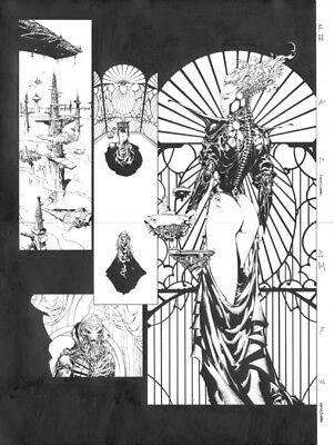 APHRODITE IX #1/2 pg.2,3 Original Art-David FINCH Joe WEEMS Top Cow Image Comics