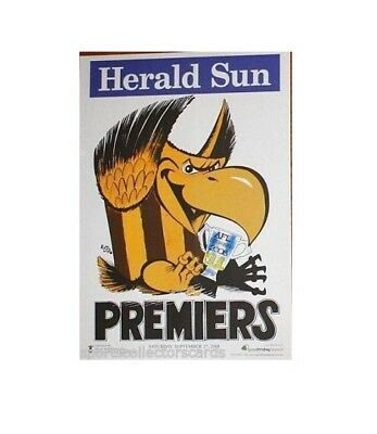 2008 Afl Hawthorn Grand Final Premiership Poster Mark Knight Herald Sun Hawks