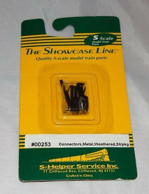 S Helper Service #00253 Track Connectors Metal weathered 24/pkg Showcase carded
