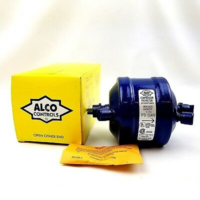 "1 Alco SFD 13 S 4-VV Suction Line Filter Drier Compressor Protector 1/2"" Air New"