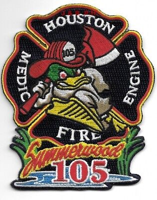 """Houston Station 105  """"Summerwood"""", Texas  (3.5"""" x 4.25"""" size) fire patch"""