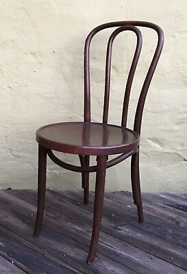 Vintage Thonet Bentwood Bistro Cafe Chair Ice Cream Parlor Chair Original  Label