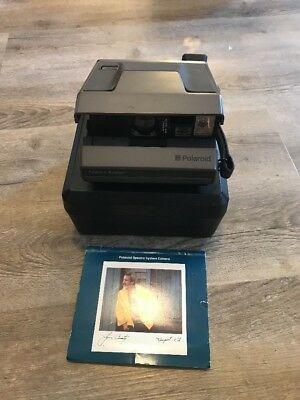 Polaroid Spectra System Instant Film Camera Original Case & Instructions