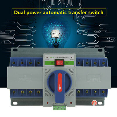1pc 4P 63A 220V Dual Power Automatic Transfer Switch ATS