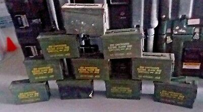 US Military LOT OF 10 Ammo Cans 7.62 30 cal M19A1 Airtight Steel 10x3.5x7