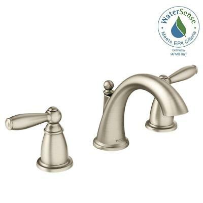 MOEN TS6520BN ICON Widespread Bathroom Faucet Trim Kit in Brushed ...
