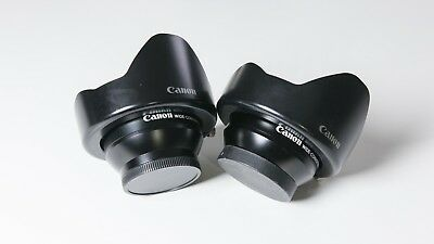 Canon Wide-Converter WD58 0.7x58 Lens with Caps and Hood (Listing is for 1 unit)