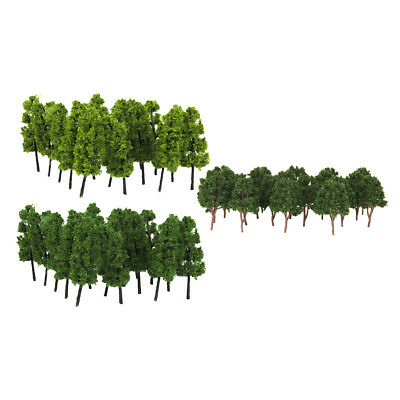 1/200 Model Trees Mixed 1/150 Model Railroad Tree for Scenery Landscape
