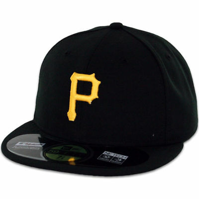 Pittsburgh Pirates Mlb Youth On Field New Era 59Fifty Fitted Black Hat/cap Nwt