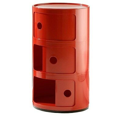 Container Componibili, Kartell, 3-Er Rot, Neu + Ovp!