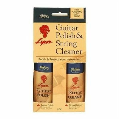 Washburn Lyon brand Guitar Polish, String Cleaner and Polishing Cloth Pack