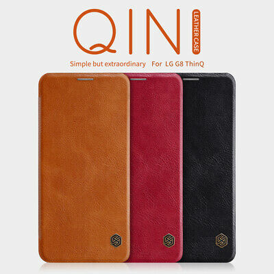 Genuine Nillkin Premium PU Leather Flip Wallet Cover Case For LG G8 / G7 ThinQ