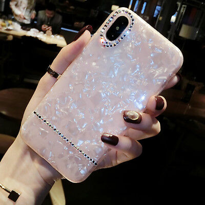 Luxury Bling Crystal Diamond Shockproof Soft Phone Case Cover For iPhone 6/7/8+