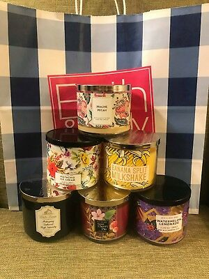 Bath & Body Works - **TWO FOR £36** - 3 Wick Candles - Various Scents - FREE P&P
