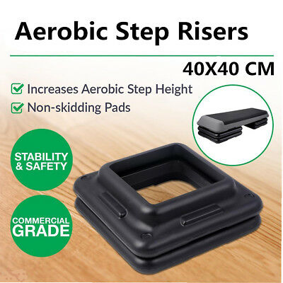 40*40cm Aerobic Step Risers Everfit Gym Fitness Stepper Workout Exercise Bench