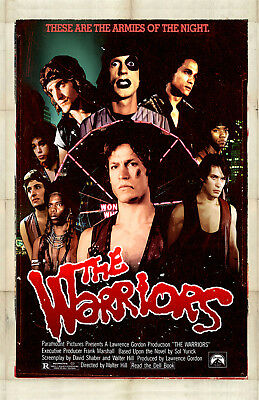 The Warriors Movie Poster 11x17in / 28x43cm Michael Beck James Remar