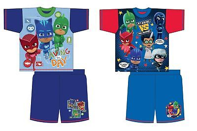 Childrens Boys Short Pyjamas PJ Masks Nightwear Pajamas Pjs Gift