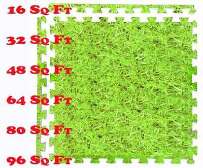 Grass Effect Interlocking Eva Mat Jigsaw Floor Tiles Soft  Kids Play NonSlip