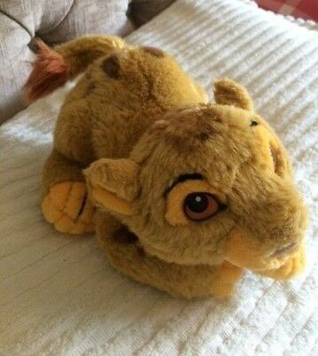 """Vintage Simba From Lion King, Walt Disney World, 9"""" Long, Great Condition"""