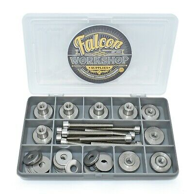 44 Piece M6 A2 Steel Knurled Thumb Nuts High/thin Type Socket Screws Washers Kit