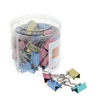 60Pcs 15mm Colorful Metal Binder Clips File Paper Clip Office Supplies