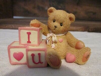 Cherished Teddies I Love You #156515 Bears With Love Letters  Blocks 1996