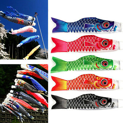 New Large Koinobori Japanese Carp Wind Sock Koi Nobori Colorful Fish Flag Decor