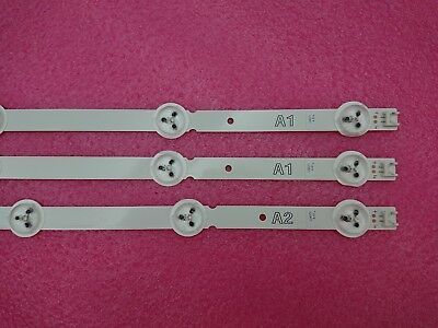 3pcs(2*A1 1*A2) 630mm LED strip for LG 32LN 6916L-1295A 6916L-1296A 1105A 1204A