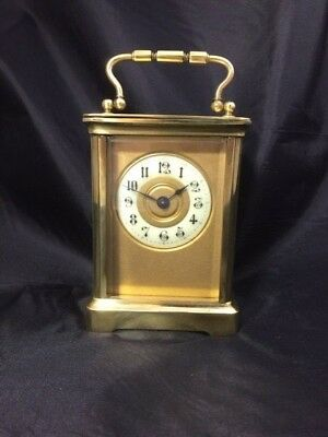 Superb 8 Day Gorge Shape Carriage Clock with unusual dial