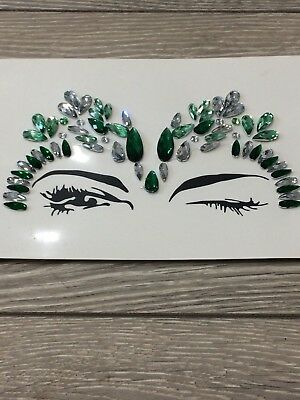 Face Body Gems Jewels Diamonds Crystals Festival Rave Stickers gypsy make up