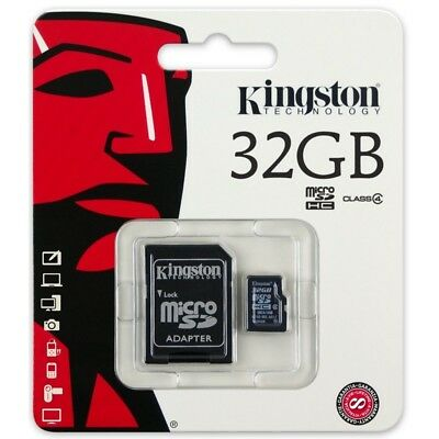 Kingston micro SD SDHC Memory Card 32GB Classe 4 con adattatore