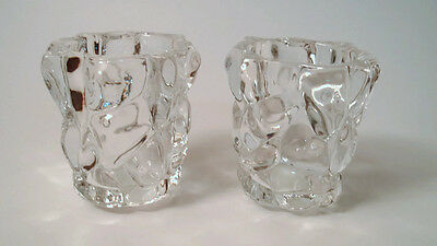 Partylite Glacier Lights Votive Candle Holders P7657 Set of 2