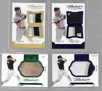 (4) 2016 Panini Flawless Giancarlo Stanton Multi-Color Patch Cards /5, /10, /15