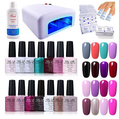 Blue Velvet/GEL LAB 10ml Gel Polish 4 Colors + 36W US LAMP UK CHARGER