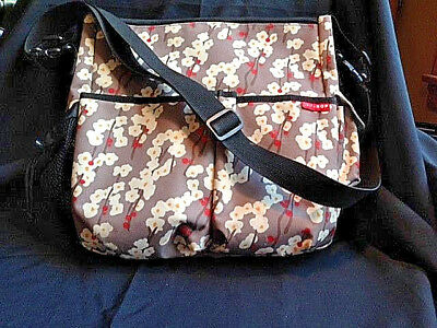 Skip Hop Baby Diaper Bag, Cherry Blossom Floral, Excellent Condition (RF683)