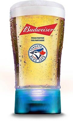 NEW Toronto Blue Jays Budweiser Home Run Glass Cup Sync Bluetooth MLB Baseball