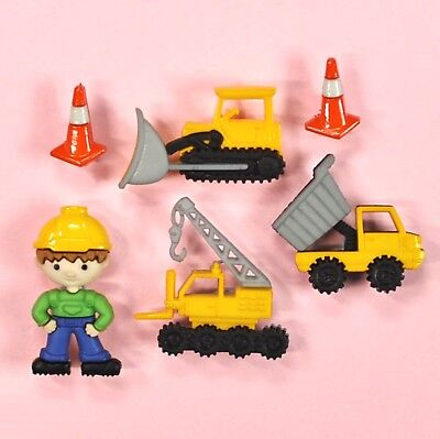 DRESS IT UP Buttons Work Zone 8305 - Embellishments Cars Trucks Digger