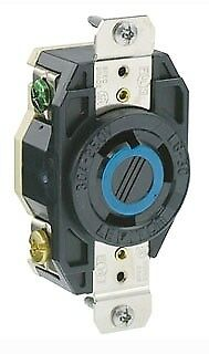Leviton 2620 30 Amp, 250 Volt, Flush Mounting Locking Receptacle, Industrial