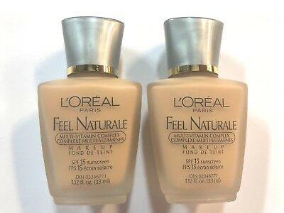 Loreal Feel Naturale LOT OF 2 Makeup in the shade of Nude Beige