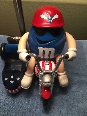 M&M Candy Dispenser Sidecar USA Motorcycle Freedom Rider