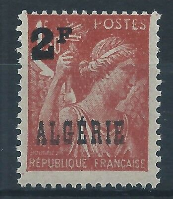 ALGERIA 1946 SG253 optd ALGERIE and surch 2F on 1f 50 brown Mint MNH