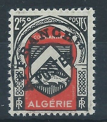ALGERIA 1947 SG273 2f.50 - black and red Pre Cancelled  Mint MNH