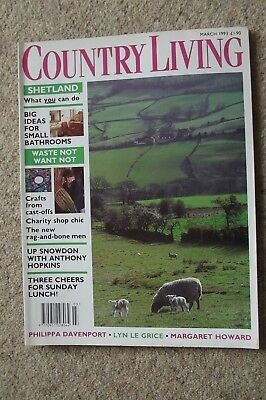 Country Living Mar 93 - Anthony Hopkins Canals Fencing Recycling Christopher Day