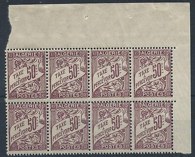 ALGERIA 1926 SG D40 Postage Due 50c Dull Claret Block Of 8 Margin Mint MNH