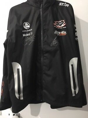 holden jacket 25 anniversary signed by james courtney and garth tander worn once