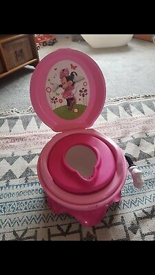TOMY The First Years Disney Minnie Mouse Potty 3 Step Progress System Pink Potty