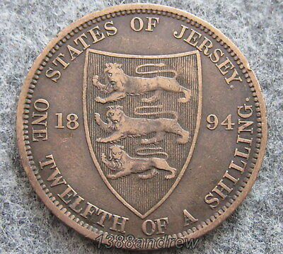 Jersey Queen Victoria 1894 1/12 Shilling