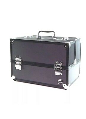 Caboodles Primped and Polished Large 6 Tray Train Case, Cosmetic Makeup Travel