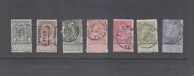 BELGIUM-1893-KING LEOPOLD-SG 78a/80-85-FINE USED-WITH TABS-$8.50-freepost