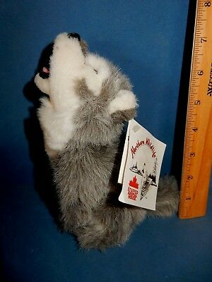 "Nwt  Condition Howling Wolf Or Husky Dog  Plush Toy 7"" High"